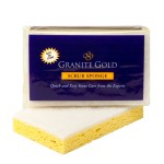 Granite Gold Scrub Sponge_SingleOnOpenSponge_120312